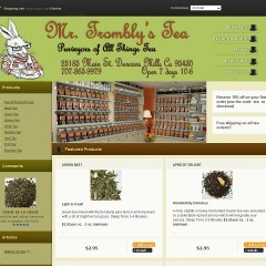 Tea e-commerce website