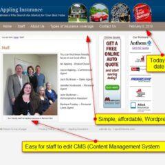 Insurance broker website