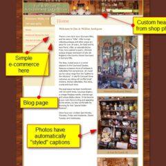Antique shop website