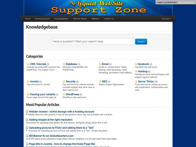 Liquid Website Knowledgebase