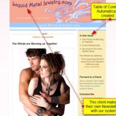 Liquid Metal Jewelry – newsletter