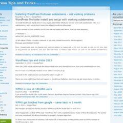 WordPress Tips and Tricks
