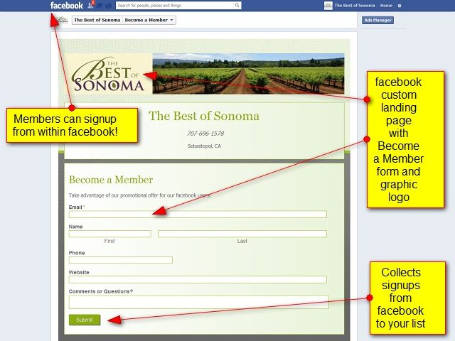 Member Signup from facebook