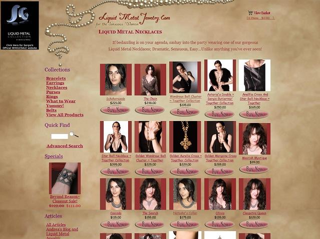 Jewelry e-commerce website